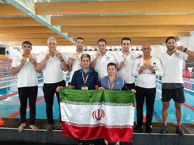 17 مدال شناگران ایران در روز چهارم بازی های جهانی کارگران