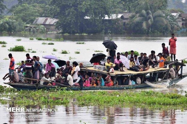 قربانیان سیل در هند به 160 نفر رسید، 11 میلیون نفر آسیب دیدند