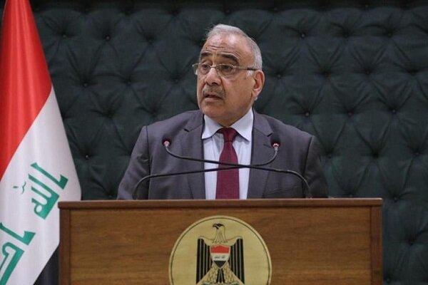بازدید عبدالمهدی از محل انفجار انبار مهمات در بغداد