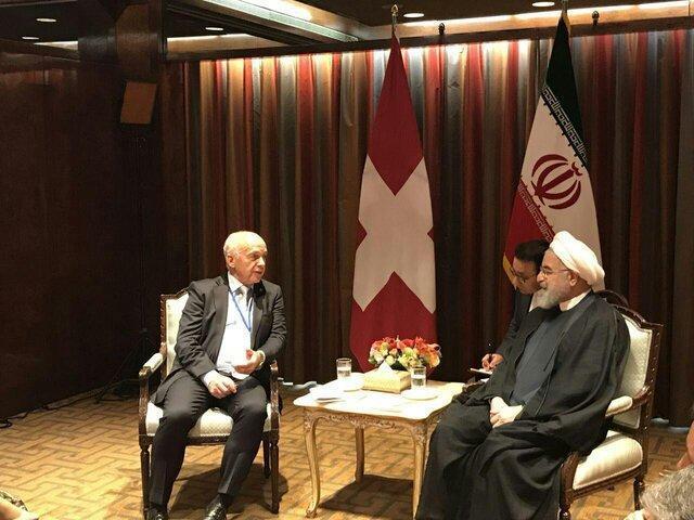 گفت وگوی روسای جمهور ایران و سوئیس درباره نقش میانجی گری این کشور