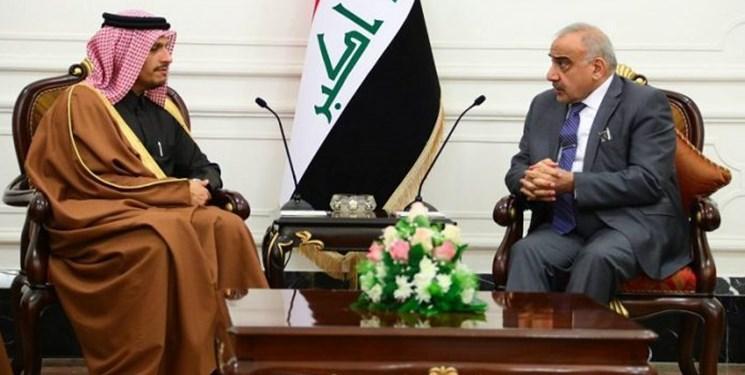 عبدالمهدی به وزیر خارجه قطر: اولویت عراق حفظ حاکمیت ملی است