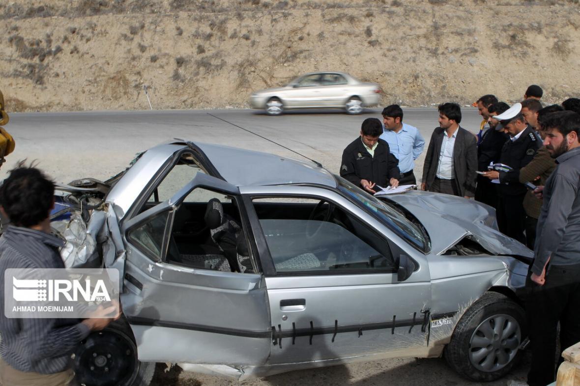 خبرنگاران تصادف رانندگی در جاده نورآباد - کرمانشاه یک کشته و سه مصدوم داشت