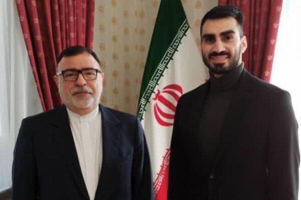 ملاقات سرمربی ایرانی بلغارستان با سفیر ایران